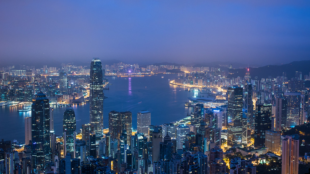 Night view from  Victoria Peak Hong Kong