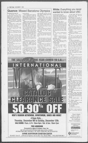 Daily Trojan, Vol. 121, No. 65, December 07, 1993