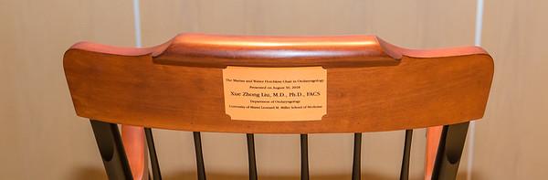 Xue Zhong Liu, M.D., Ph.D., FACS receives The Marian & Walter Hotchkiss Chair in Otolaryngology - August 30, 2018