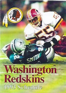 1993 Redskins Mobil Schedules