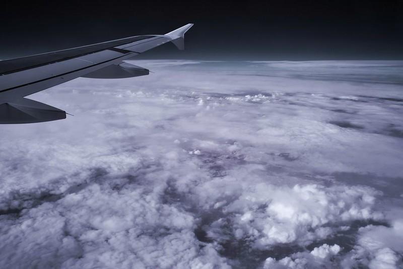 Infračervená oblačnost nad španělským severním pobřežím