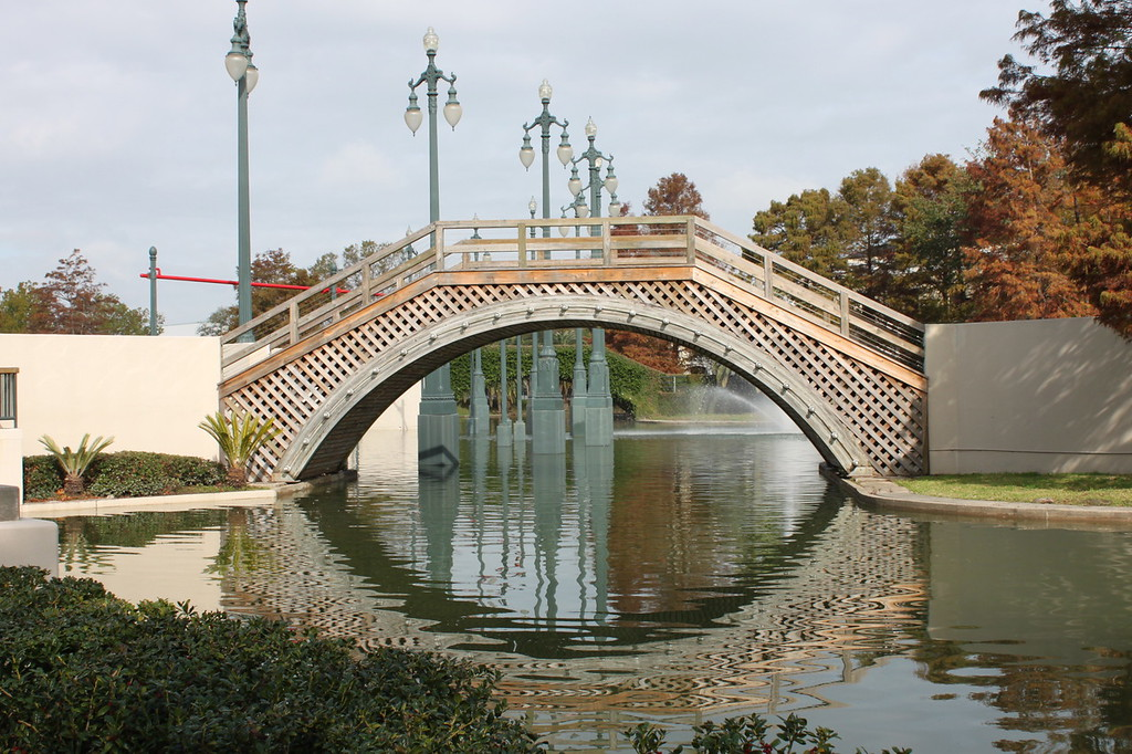 Bridge over water at Louis Armstrong Park