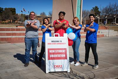 New Student and Family Programs photo shoot