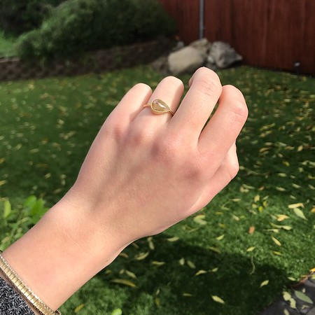 Rustic Rose Cut Diamond, Yellow Gold