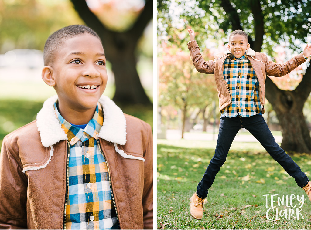 East Bay Area kids model headshot portfolio session for JE kids in Pleasanton by Tenley Clark Photography