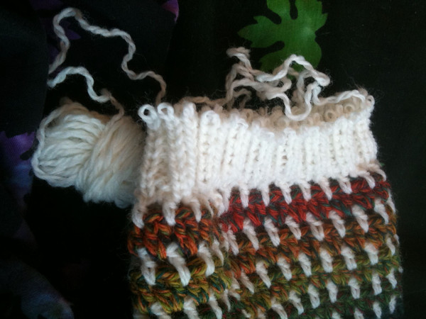 frogging heel and ankle to add 4 rows to foot