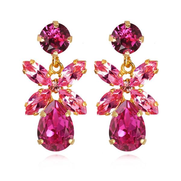 Mini Dione Earrings / Fuchsia Gold