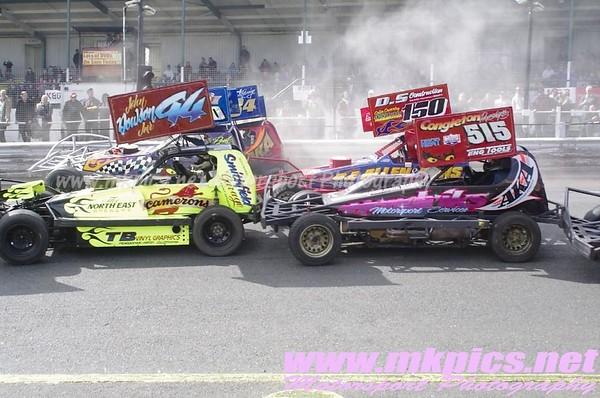 BriSCA F1 Stockcars, Hednesford Hills 13 April 2014