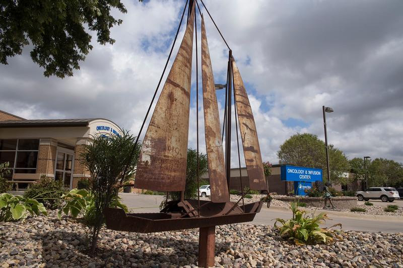 Storm Lake Hospital - Denny Allen Sailboat Sculpture