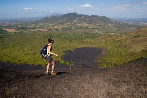 Beginning the decent of the Cerro Negro Volcano