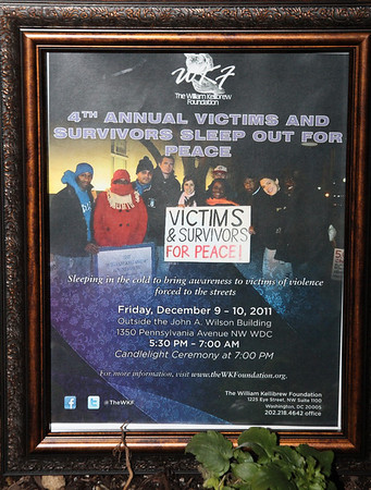 4th Annual Victims and Survivors Sleep out for Peace