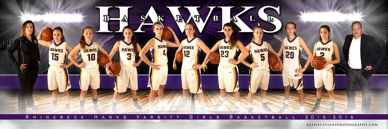 Rhinebeck Girls Basketball Team 5x15