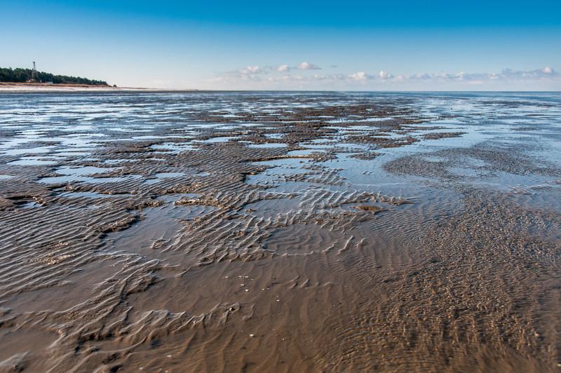 Wide shot of Wadden Sea in Germany