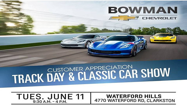 Bowman Chevrolet Track and Classic Car Show June 11, 2019