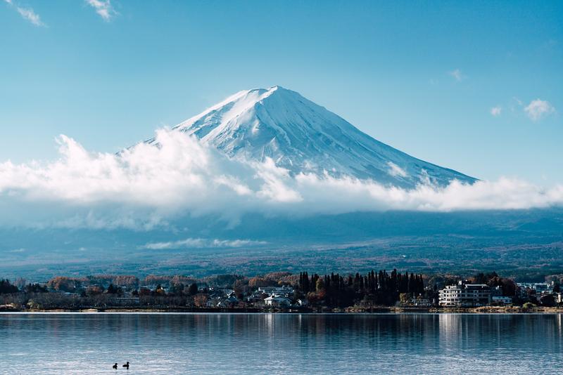 Mt Fuji over Lake Kawaguchi-ko. Editorial credit: JHENG YAO / Shutterstock.com