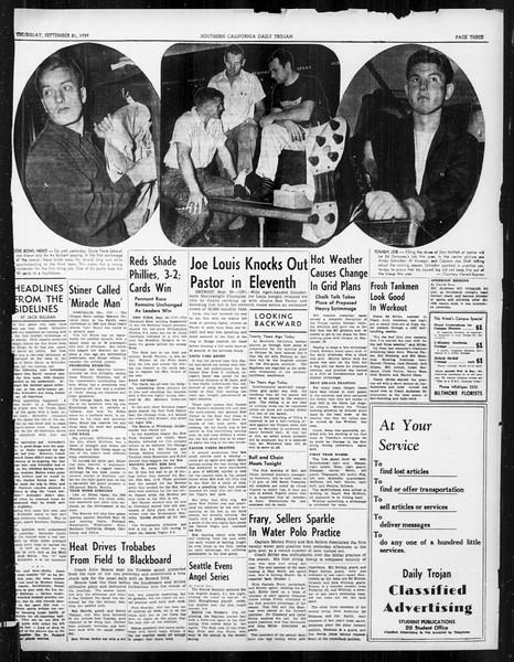 Daily Trojan, Vol. 31, No. 5, September 21, 1939