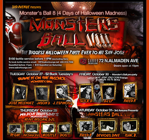 Monster Ball 8 @ Sabor Tapas Bar & Lounge 10.30.09