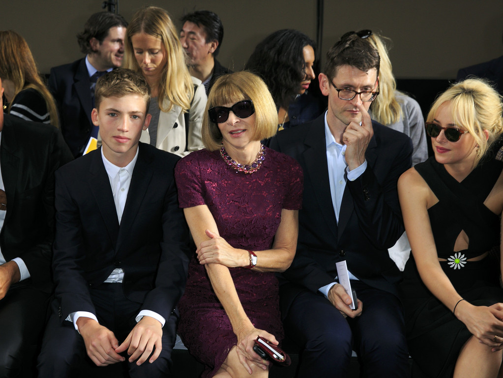 . Anna Wintour attends the Christopher Kane show during London Fashion Week Spring Summer 2015 at  on September 15, 2014 in London, England.  (Photo by John Phillips/Getty Images)