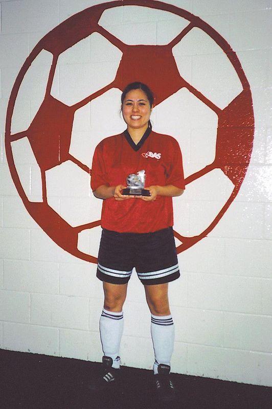 WINTER INDOOR SCORING CHAMPION - Stephanie Kishimoto (RED HEAT) - 15 goals