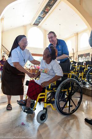 Naga City: Wheelchair Distribution at Immaculate Conception Parish