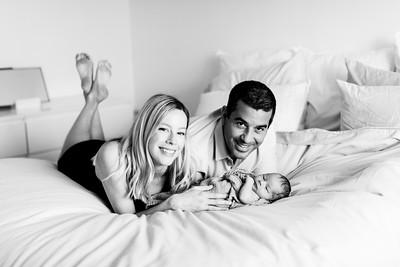 Newborn baby photographs in La Jolla at home