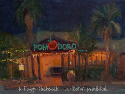 Pomodoro, 9x12, oil panel  (studio painting from plein air)  G0668