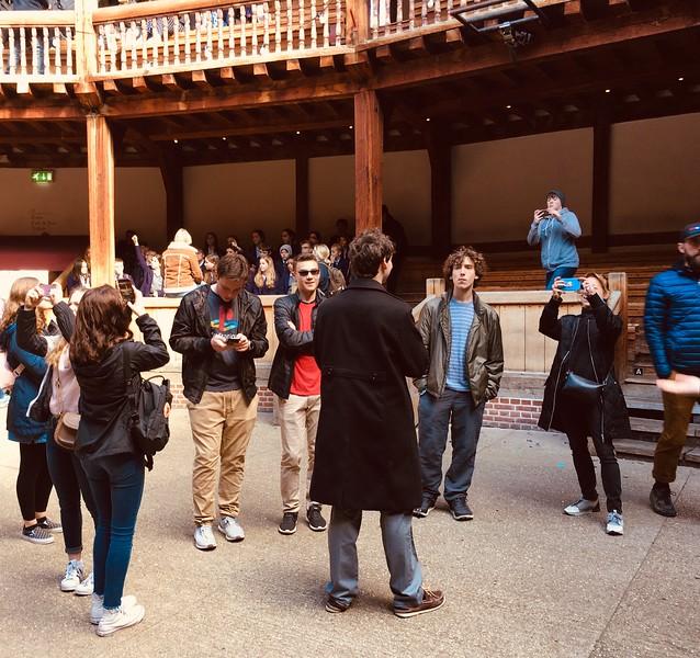Globe Theatre tour.JPG