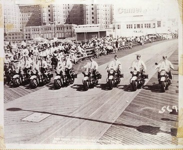 Harry E Miller on the Motorcycle Team Atlantic CIty