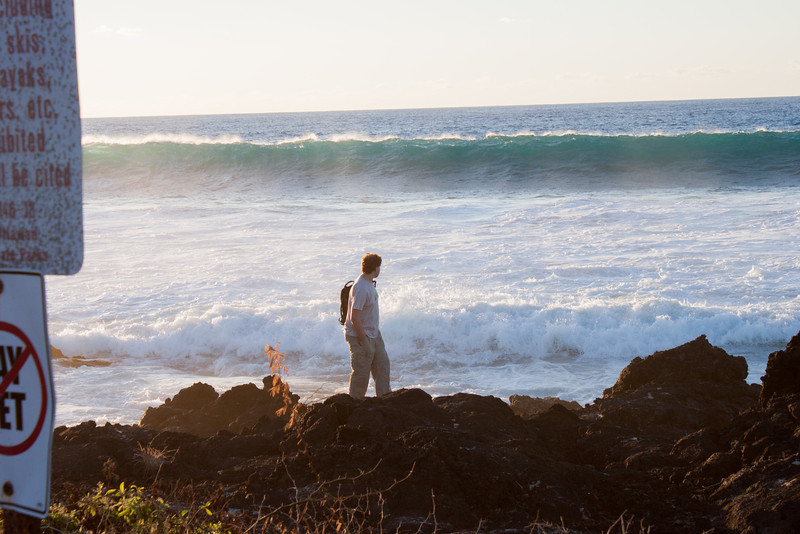 Dan with the ocean