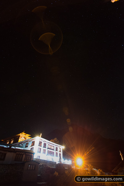 Light from above - Tengboche monastery.