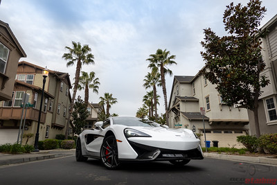 McClaren 570s - White - Front End PPF and CQFR Coating