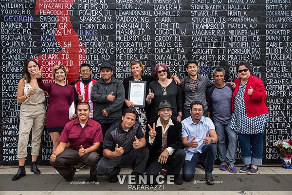 05.29.17  Venice POW mural unveiling ceremony