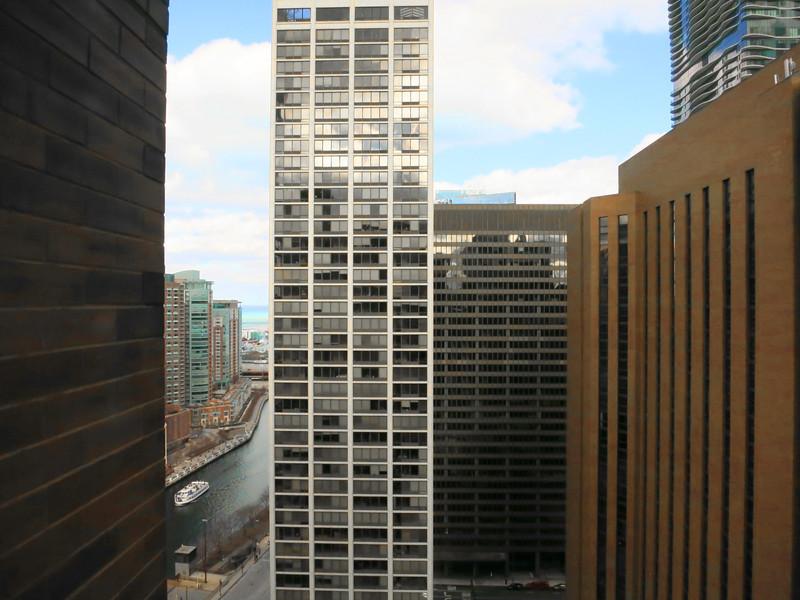 3-At far right: Hyatt (orange brick) and Aqua residences (at top); from Hyatt 3002