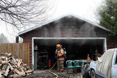 Garage Fire 6038 N. Seneca (1/15/10)