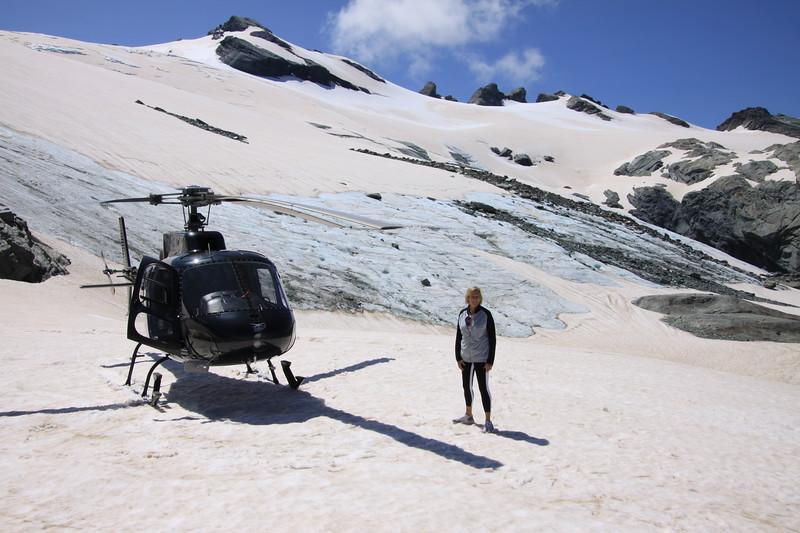 A snow landing on the glacier