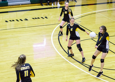 CCHS  Volleyball 2016-10-10 VS Three Rivers