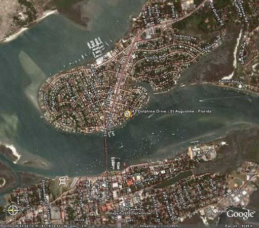 Satellite View | 43 Dolphin | St Augustine