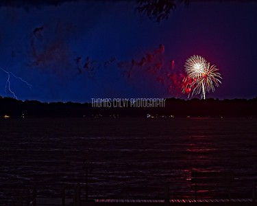 Pewaukee Lake Fireworks