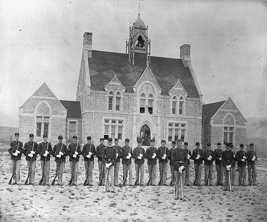 Cutler Academy drill team in 1891