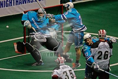 4/11/2015 - Colorado Mammoth vs. Rochester Knighthawks - Blue Cross Arena, Rochester, NY