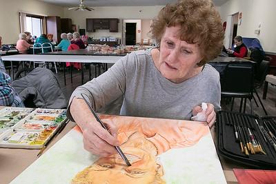 Art Class at Leominster Senior Center, Feb. 4, 2020
