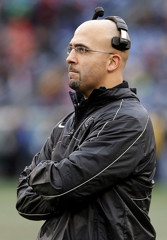 . Vanderbilt head coach James Franklin watches from the sideline in the first quarter of the Music City Bowl NCAA college football game against North Carolina State, Monday, Dec. 31, 2012, in Nashville, Tenn. (AP Photo/Mark Humphrey)