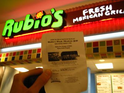 Rubio's Fundraiser