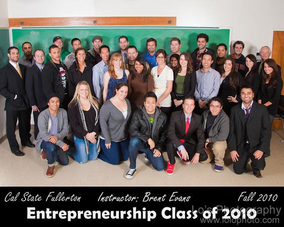 CSUF Entrepreneurship Class - Fall 2010