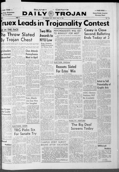 Daily Trojan, Vol. 47, No. 102, March 23, 1956