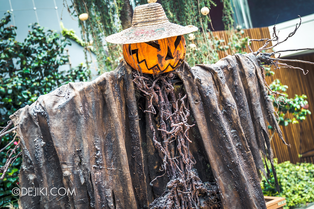 Gardens by the Bay - Autumn Harvest Floral Display - Scary pumpkin