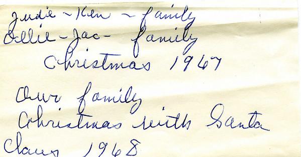 Christmas 1967 and 1968