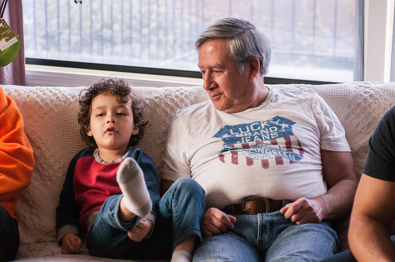 2017.03.26 - Lyonel and Uncle Rick at Grandma Rita's house
