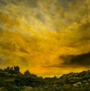 """Evening Glow (iii)"" (acrylic) by Holger Baehr"