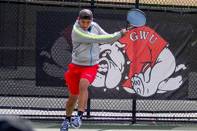 GWU Men's Tennis vs. UNC Asheville March 2017